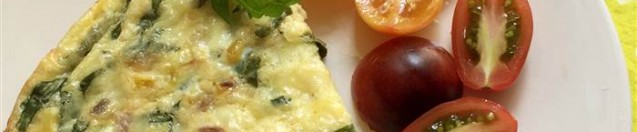 Grilled Corn and Basil Frittata