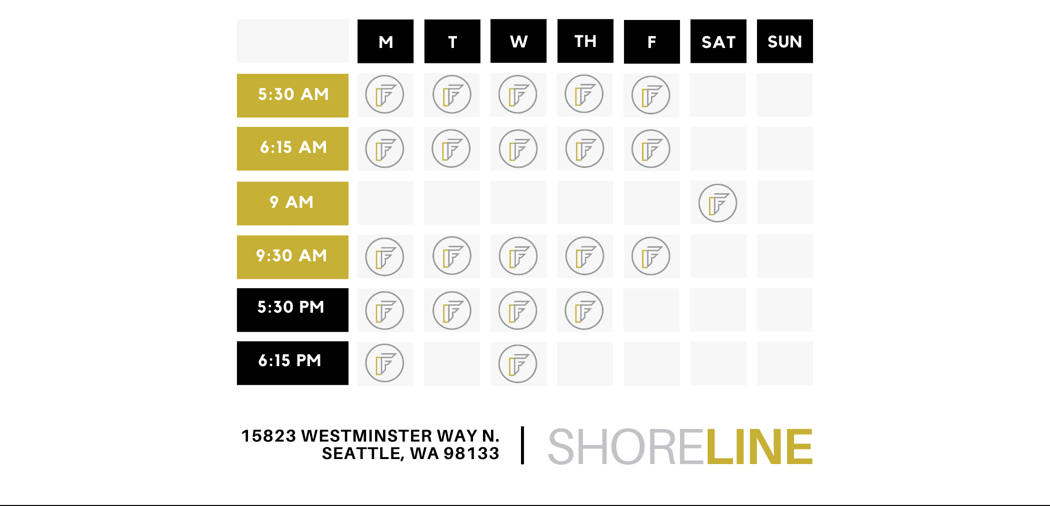 Shoreline Schedule